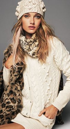 Sweaters, Beanies + Leopard Scarves = Winter Fashion 2013