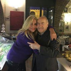 Mara Venier at Taverna Flavia Rome