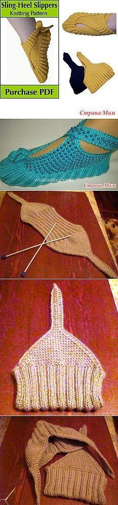 Японские тапочки | Вязание крючком и спицами