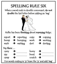 Part 1 Spelling Rules - Test how much you know about these rules. Improve spelling skills here. Order your High Frequency books here Improve spelling skills here. Phonics Rules, Spelling Rules, Grade Spelling, Spelling Activities, Grammar Rules, Spelling And Grammar, Spelling Dictionary, Spelling Help, Phonics Lessons