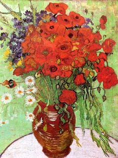 Red Poppies and Daisies, 1890......Van Gogh