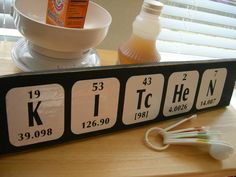 Kitchen sign Periodic Table of Elements Fun by TheElegantWallwe're nerds...