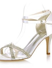 Women's+Shoes+Satin+Stiletto+Heel+Open+Toe+Sandals+Wedding/Party+&+Evening+Shoes+More+Colors+available+–+AUD+$+272.59