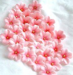 gum paste flowers wedding cake flowers