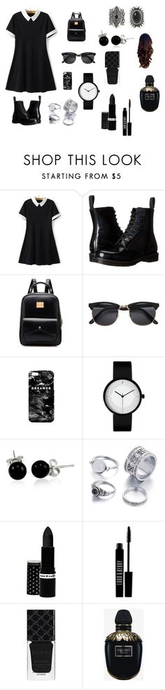 """""""Untitled #1"""" by how0015 ❤ liked on Polyvore featuring Dr. Martens, Mr. Gugu & Miss Go, Bling Jewelry, Hard Candy, Lord & Berry, Gucci, Alexander McQueen and New Look"""