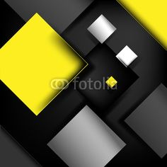 Vector: Design blocks structure, Overlapping Squares, Yellow black tone on Fotolia