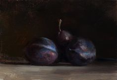 Daily painting from Postcard from Provence titled Blue Plums