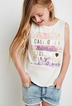 California Heart Tank (Kids) | Forever 21 girls | #f21kids