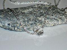Swarovski crystal necklace minimalist by SilverIrisJewelry on Etsy