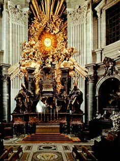 Bernini's alter in St. Peter's basilica, Rome, Italy