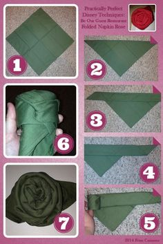 napkin rose folding | Be Our Guest Napkin Rose