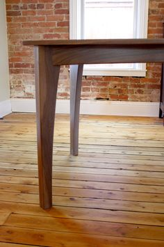 """The """"Arcs"""" Dining Table Colorado, Urban Setting, Table Sizes, Wal, Something Beautiful, Day Use, Wood Colors, Dining Bench, Entryway Tables"""