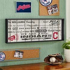 MLB Sports Family Rules Shadow Box