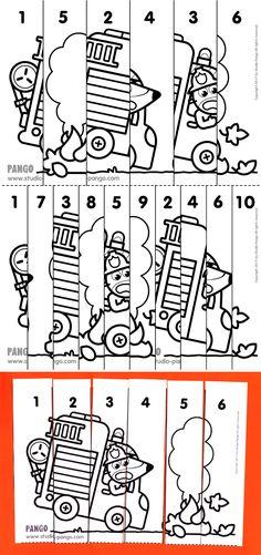 23 Trendy Fire Truck Craft For Toddlers Kids Printable Activities For Kids, Hands On Activities, Worksheets For Kids, Calendar Worksheets, Preschool Lessons, Kindergarten Activities, Fire Truck Craft, Volunteer Gifts, Volunteer Appreciation