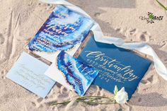 Wedding invitations inspired by the sea and beach - Our Favorite Instagram Posts 7.1.16 | WeddingDay Magazine