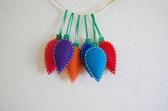 Felt Christmas ornaments set of 6 by ColorAndThread on Etsy, $28.00