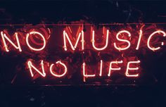Royalty-Free photo: red no music no life neon signage Red Aesthetic Grunge, Neon Aesthetic, Music Aesthetic, Aesthetic Vintage, Aesthetic Videos, Bedroom Wall Collage, Photo Wall Collage, Picture Wall, Music Images