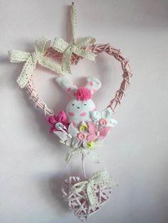 Fiocco nascita coniglietto rosa! www.minimondodianita.com