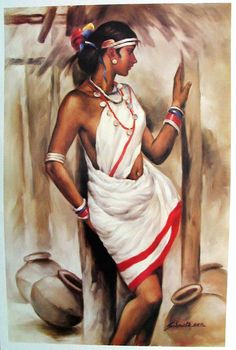 Beauty Tribal Beauty - People Posters (Reprint on Paper - Unframed)Tribal Beauty - People Posters (Reprint on Paper - Unframed) Poster Color Painting, Painting Tips, Painting Art, Watercolor Painting, Art Sketches, Art Drawings, Rajasthani Painting, Indian Art Paintings, Indian Women Painting