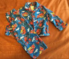 Boy's Marvel Spider Man Pajama Set Size 2T | eBay
