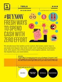 #BuyNow Fresh Ways to Spend Cash with Zero Effort. Wired. June, 2013.