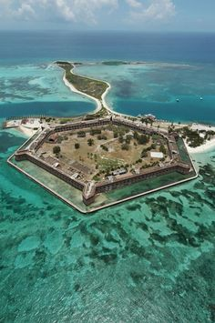 Dry Tortugas, Fort Jefferson - 70 miles west of key west.............i plan to go very soon.