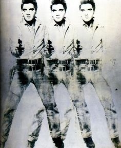 Andy Warhol, Triple Elvis, 1964 silkscreen on canvas, 209 x 152 cm (Private Collection)