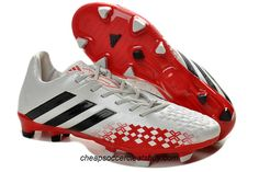 new product 1441e 4b62b Cheap Soccer Shoes 2013 Adidas Predator Lethal Zones Cleats 2013 For David  Beckhams Retirement Game - White Black Red