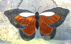 Stained Glass Butterfly Suncatcher - Handcrafted in Tennessee USA by CandJMountainGlass on Etsy