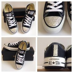 Custom Converse with Crystals from Swarovski® - Jezelle.com. Custom ConverseConverse  ShoesConverse ... 2da224b8d