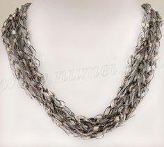 Free Crochet Necklace Patterns   ... ladder ribbon glitter combined pattern 4 stellalume ladder ribbon