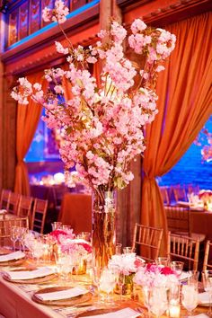 Wedding reception idea; Featured Floral Design: By Yena Designs