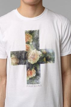 Profound Aesthetic Floral Cross Tee $28.00http://www.urbanoutfitters.com/urban/catalog/productdetail.jsp?id=28130771&color=010&parentid=QUICKVIEW