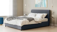 45435fb3112c dark grey simple storage bed Double Bed With Storage, Double Beds, Ottoman  Bed,