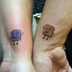 PB&J best friends tattoo. I feel like my bestie & I need bff tattoos & of course we need something hella nerdy like this