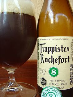 Trappistes Rochefort 8, a Belgian Dubbel brewed by Abbaye St-Remy in Rochefort, Belgium.