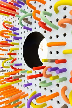 Interactive space by the same people who did the crayon helmet thing | Tubo by Mathery Studio