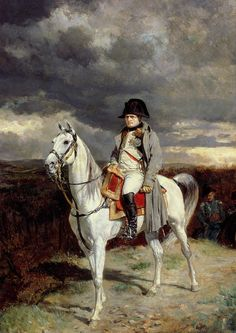 This reproduction painting features Napoleon Bonaparte on horseback. It is based on the original by Jean-Louis Ernest Meissonier. Celebrate French Military History with this poster from The War Is Hell Store. Military Art, Military History, Ludwig Xiv, First French Empire, Academic Art, French History, French Army, Art Database, Napoleonic Wars