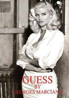 Anna Nicole Smith Guess Fashion Can't get much prettier than that.Such a sad story. Anna Nicole Smith, Ann Nicole, Anna Smith, Guess Models, Guess Campaigns, Guess Ads, Looks Party, Guess Girl, Norma Jeane