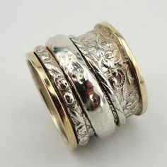 Breathtaking New Design Sterling Silver and 9K Gold by jewela, $260.00