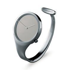 Georg Jensen classic designed by Swedish designer Vivianna Torun Bülow-Hübe. Watch Image, Citizen Watch, Cool Watches, Wrist Watches, Luxury Watches, Fashion Watches, Designer, Jewelry Watches, Jewelry Accessories