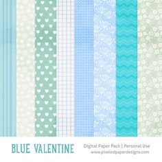 Free digital paper pack - Blue valentine ⊱✿-✿⊰ Join 4,200 others & follow the Free Digital Scrapbook board for daily freebies. Visit GrannyEnchanted.Com for thousands of digital scrapbook freebies. ⊱✿-✿⊰