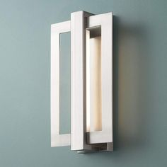 """Possini Euro Framed 16 1/4""""H Brushed Nickel LED Wall Sconce - #9K037 