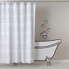 Kids Shower Curtains: Rain Rain Go Away Shower Curtain in Bathroom Décor