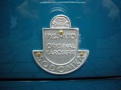 Sodomka Vysoke Myto - coachbuilder badge Car Badges, Classic Cars, Logos, Retro, Blue, Accessories, Vintage, Design, Work Shop Garage