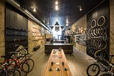 Handsome Cycle store by KNOCK, Minneapolis  store design