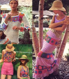 Vintage 1970s Glorious Granny Square Crochet by MaddieModPatterns570 x 655   163.5KB   www.etsy.com