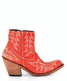 Red Ankle Boots! We love Liberty Black cowgirl boots.