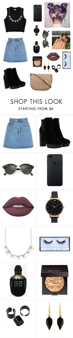 """Chill 👼🏼"" by may-martinez1 ❤ liked on Polyvore featuring Hogan, Ray-Ban, Lime Crime, Olivia Burton, Huda Beauty, Alexander McQueen, Laura Mercier, Isabel Marant and CÉLINE"