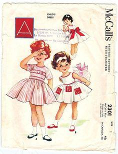 1950s McCall's 2301